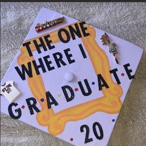Hand painted  friends graduation cap